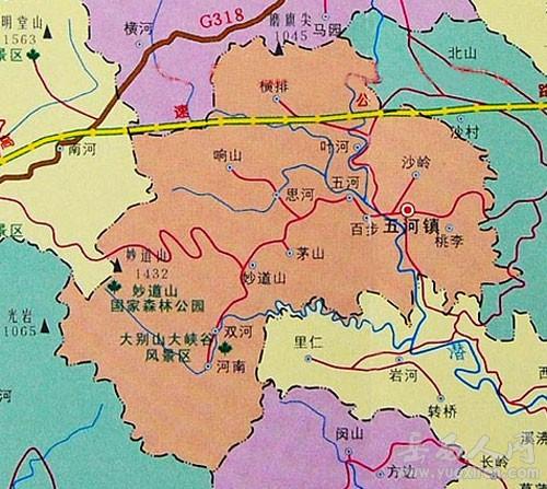 岳西县五河镇地图(新版地图,旧版地图)